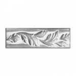 Ceramic Foliage Pattern Rail Accent Tiles 2 x 8 Inches