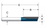 Bosch Carbide Tipped Single-Flute Straight Bits