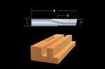 Bosch Solid Carbide Double-Flute Straight Bits
