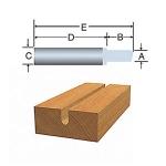 Bosch 85283 Solid Carbide Veining Bits
