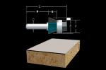 Bosch Carbide Tipped 3 Flute Flush and Bevel Laminate Trim Assemblies