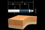 Bosch 85601M Carbide Tipped 2 Flute Templet   Trimming Bit