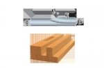 Bosch Solid Carbide Single-Flute Straight Bits