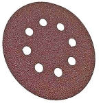 Bosch 5 Inch 8 Hole Hook and Loop Discs Assorted Grits 6 Pack