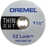 Dremel EZ409 EZ Lock Thin Cut Cut-Off Wheels 1 1 2 Inch