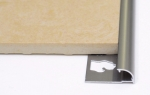 Round Edge Tile Trim in Stainless Steel