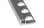 Square Edge Tile Trim in Anodized Aluminum