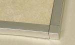 Square Edge Tile Trim Brushed Stainless Steel Corner