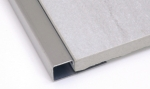 Square Edge Tile Trim in Mirror Stainless Steel