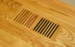 Clearance  Wood Register Frameless 4x12 Red Oak Natural Finish