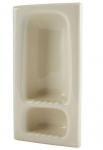 H412R Narrow Two Compartment Recessed Ceramic Shower Niche