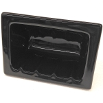 H46R Ceramic Recessed Soap Dish for Tile Showers and Baths 4 x 6