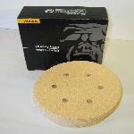 Mirka Gold 6 Inch 6 H Vacuum Hook and Loop 60 and 80 Grit Discs 23-624