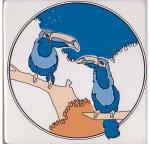 Toucans Decorative Antique Ceramic Tile Mosaic 4 x 4