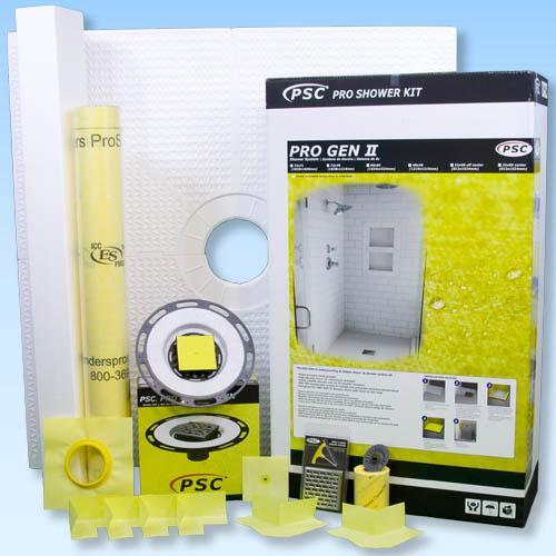 PSC Pro GEN II 72x72 Custom Tile Waterproofing Shower Kit by Pro-Source Center