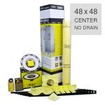 PSC Pro Gen II 48 x 48 Custom Tile Mud Kit - Center Drain - NO DRAIN