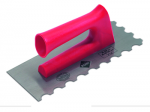 Rubi Finishing Trowels and Jagged Trowels with Open Plastic Handle