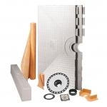 Schluter 32 x 60 Inch Off Center Drain Kerdi Shower Kit - NO DRAIN