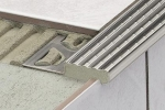 Schluter TREP-E Anti-Slip Stainless Steel Stair Nosing Profiles