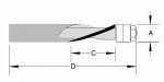 Velepec Solid Carbide Spiral Flush Trim Bits