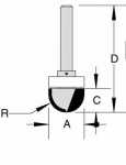 Velepec Core Box Bits With Ball Bearing Guide