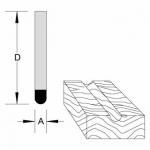 Velepec Solid Carbide Round Bottom Veining Bits
