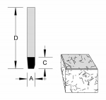 Velepec Solid Carbide Combination Bevel and Flush Trim Bit