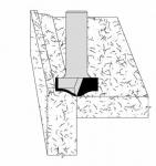 Velepec No Drip Design L Shape Solid Surface Countertop Bits