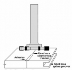 Velepec Solid Surface Countertop Trimmer and Grooving Router Bit