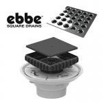 Ebbe Shower Floor Drain Complete Kit Flange Riser Grate
