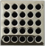 Ebbe Shower Floor Drain  Square Metal Grate Cover